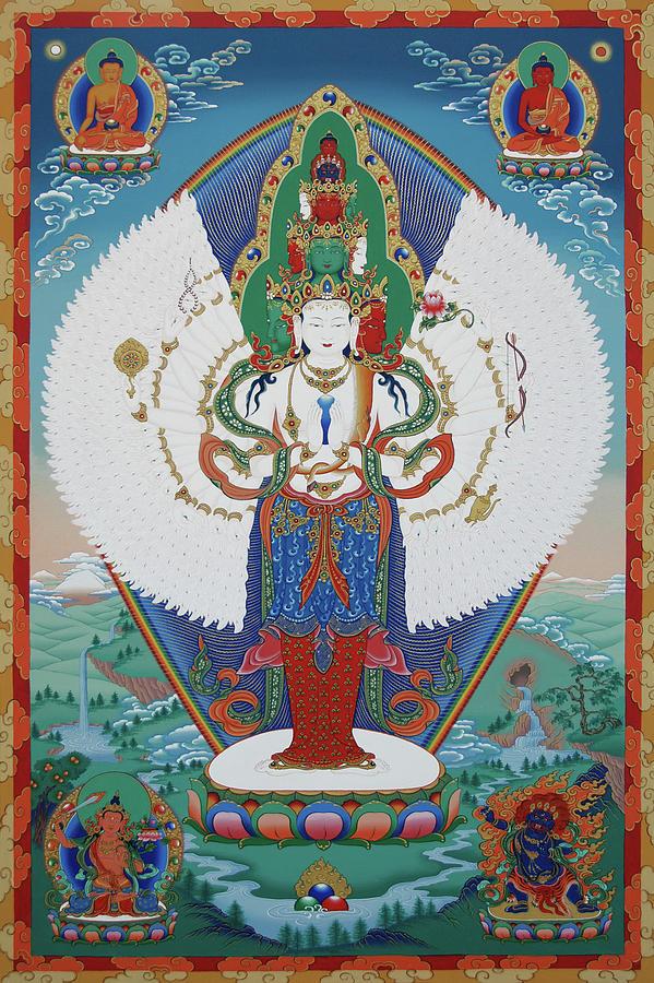 Avalokiteshvara Lord Of Compassion Painting