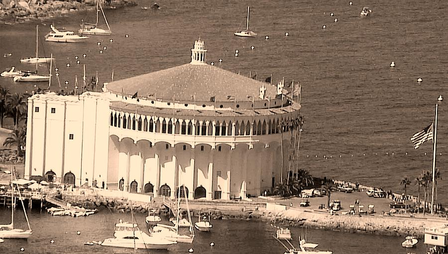 Avalon Casino In Sepia Photograph