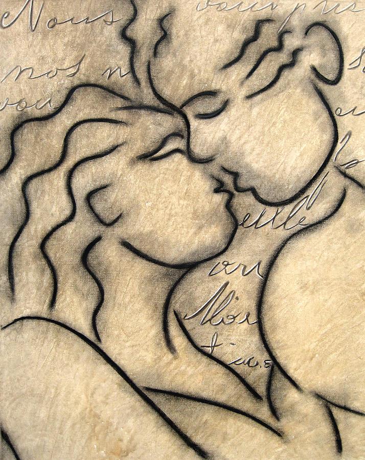 Avec Amour Painting