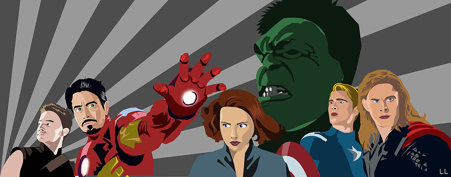 Avengers Painting - Avengers Assemble by Lisa Leeman