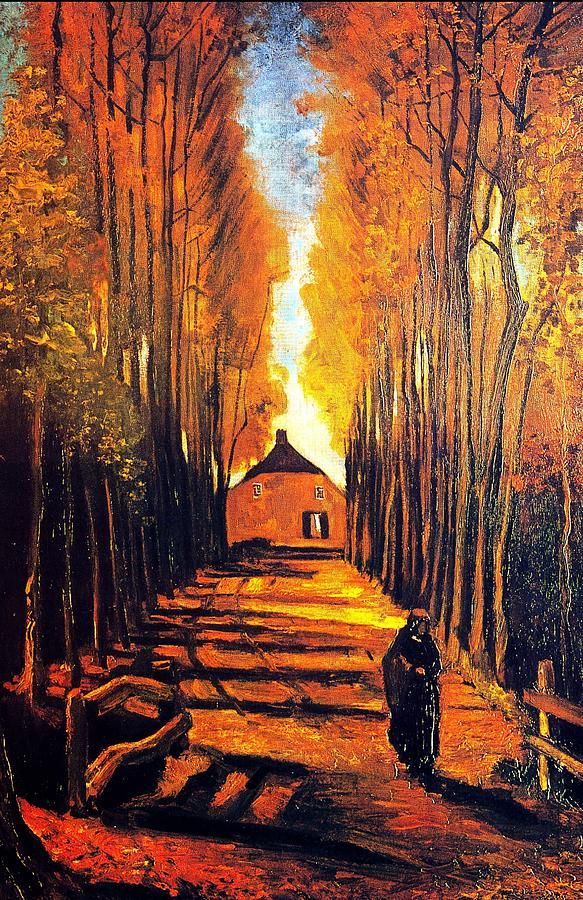 Impressionism Painting - Avenue At Poplars by Sumit Mehndiratta