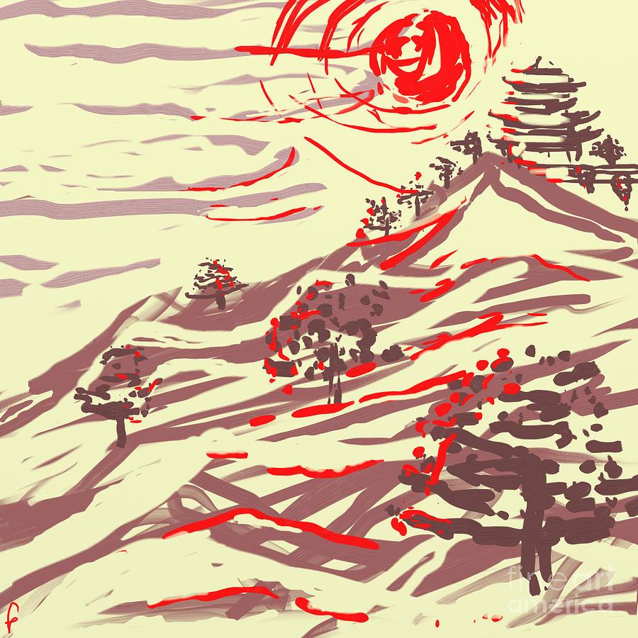 Awakening Hill Digital Art