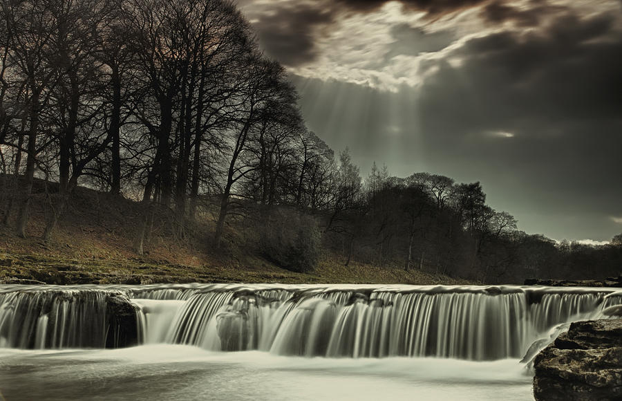 Water Photograph - Aysgarth Falls Yorkshire England by John Short
