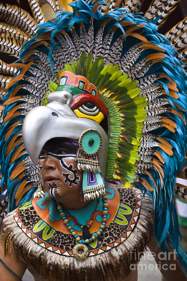 Aztec eagle dancer mexico is a photograph by craig lovell which was