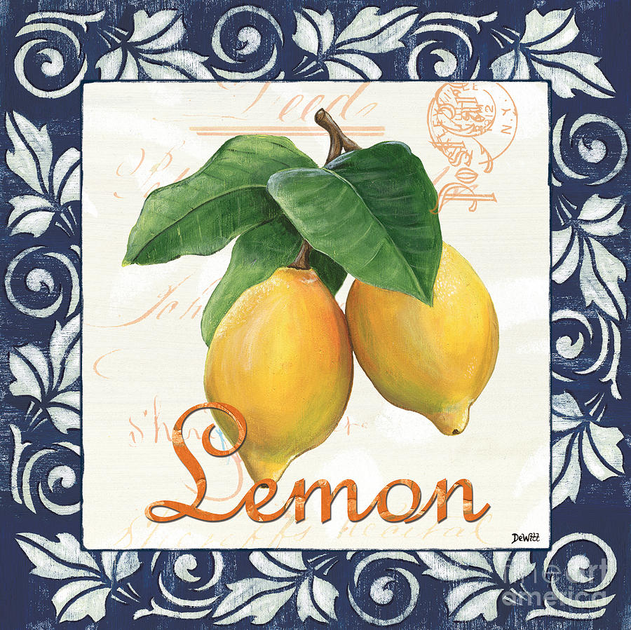 Azure Lemon 1 Painting