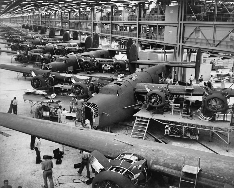 B-24 Liberator Bombers Nearing Photograph