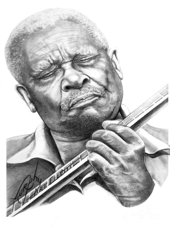 B B King Drawing