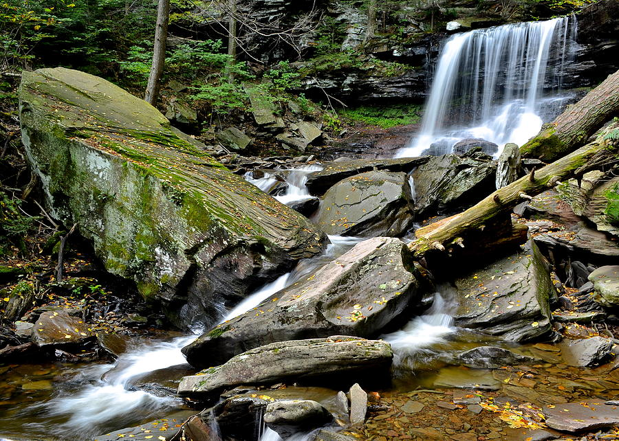 B Photograph - B Reynolds Falls by Frozen in Time Fine Art Photography
