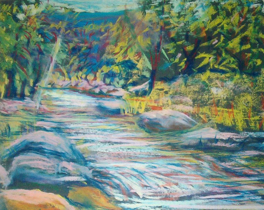 Babbling Brook Pastel  - Babbling Brook Fine Art Print