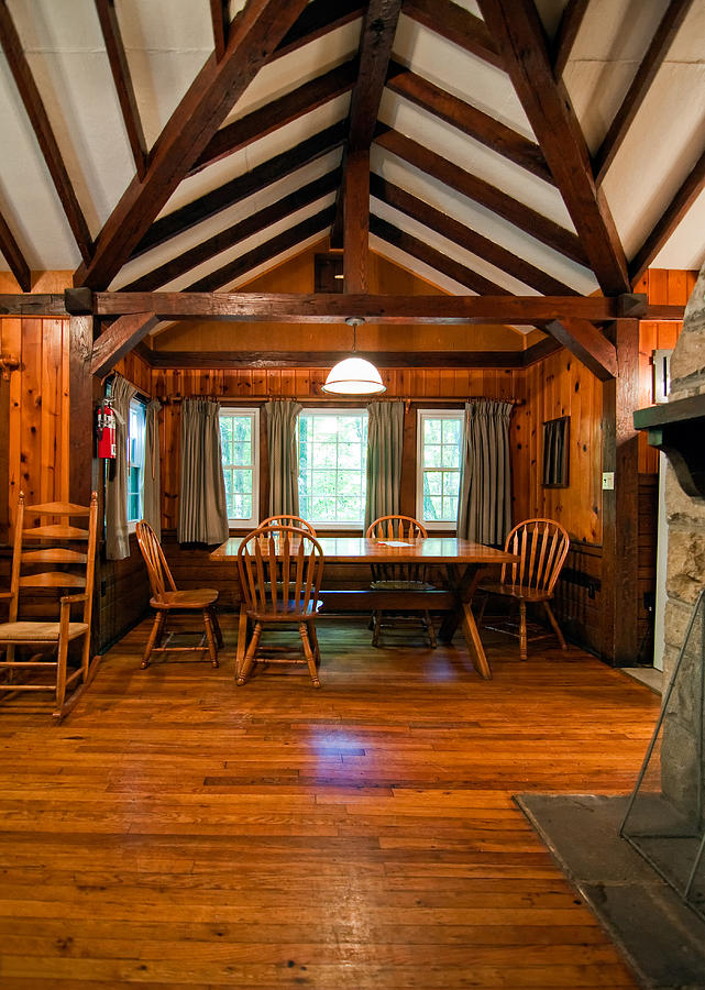 West Virginia Photograph - Babcock Cabin Interior 2 by Steve Harrington