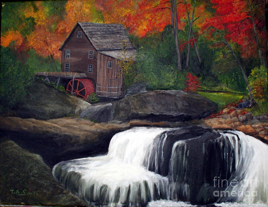 Babcock Mill Painting  - Babcock Mill Fine Art Print