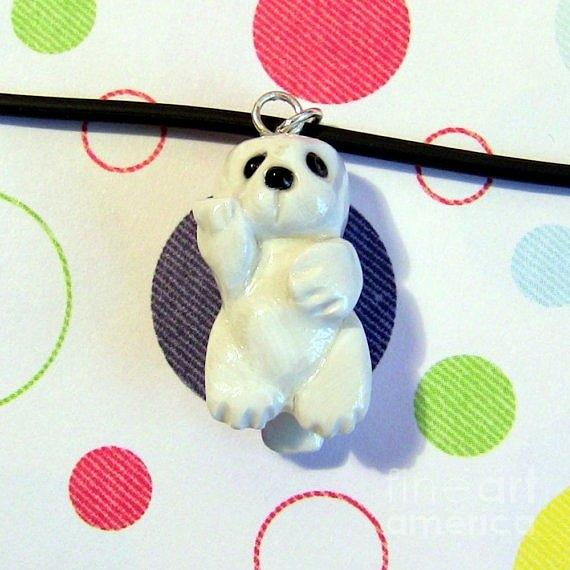 Baby Harbor Seal Endangered Animini Necklace Jewelry