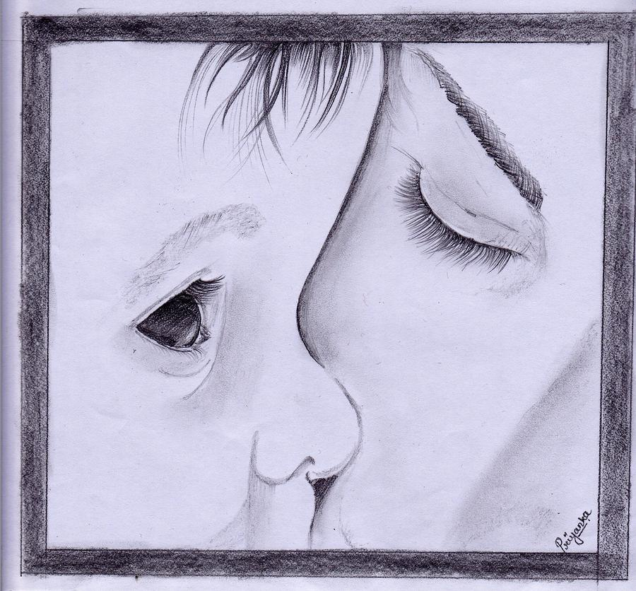 Baby To His Mother Drawing by Priyanka Patil