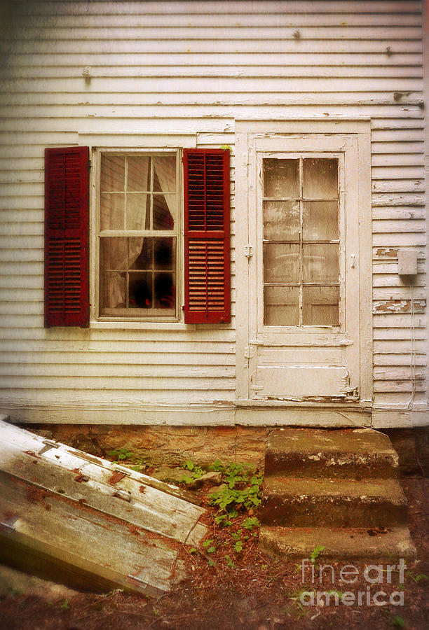 Back Door Of Old Farmhouse Photograph  - Back Door Of Old Farmhouse Fine Art Print