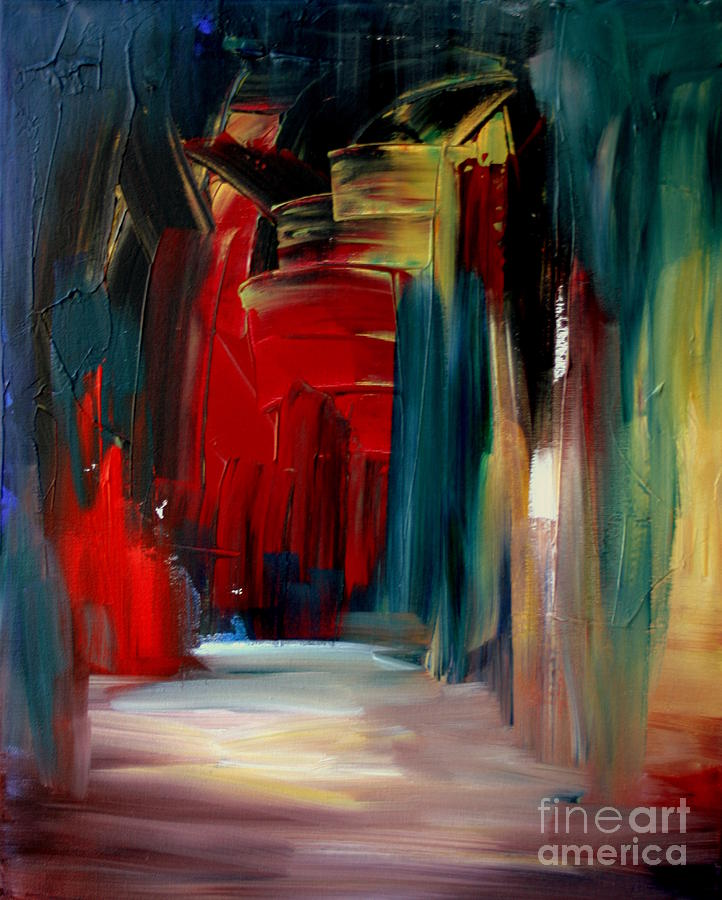 Abstract Painting - Back Doors Are For Slamming by Julie Lueders
