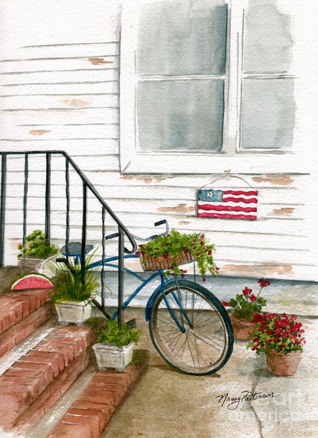 Back Step Painting  - Back Step Fine Art Print