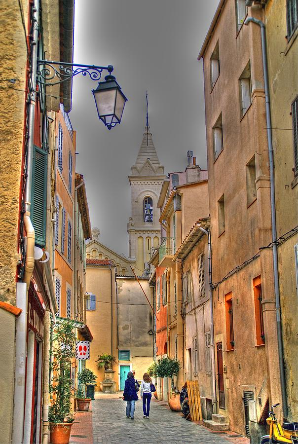 Back Streets Of Sanary Photograph  - Back Streets Of Sanary Fine Art Print