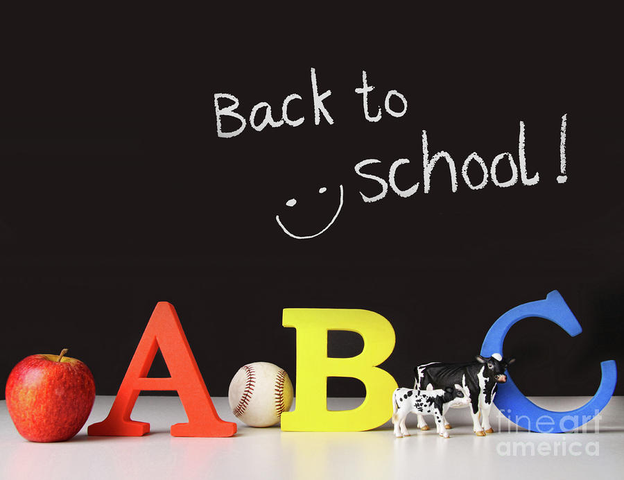 Back To School Concept With Abc Letters Photograph
