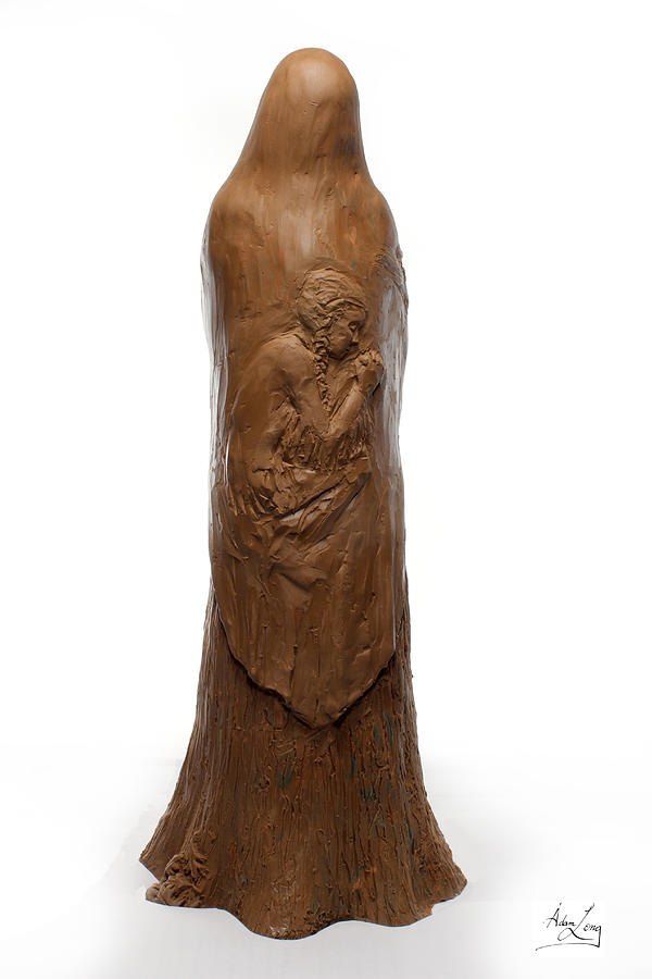 Back View Of Saint Rose Philippine Duchesne Sculpture Sculpture  - Back View Of Saint Rose Philippine Duchesne Sculpture Fine Art Print