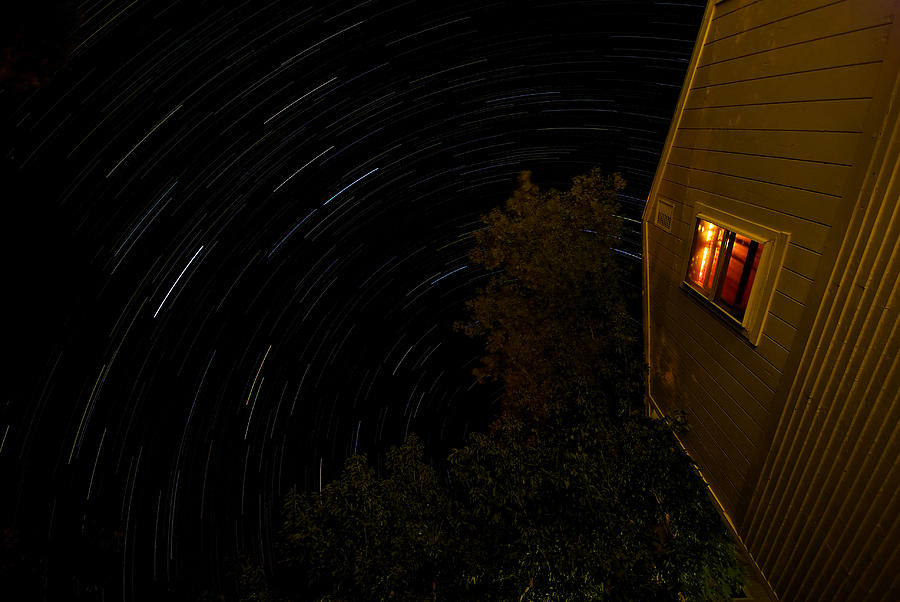 Backyard Star Trails Photograph  - Backyard Star Trails Fine Art Print