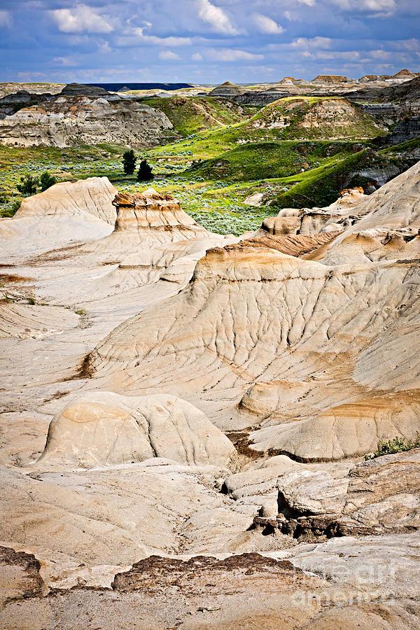 Badlands In Alberta Photograph