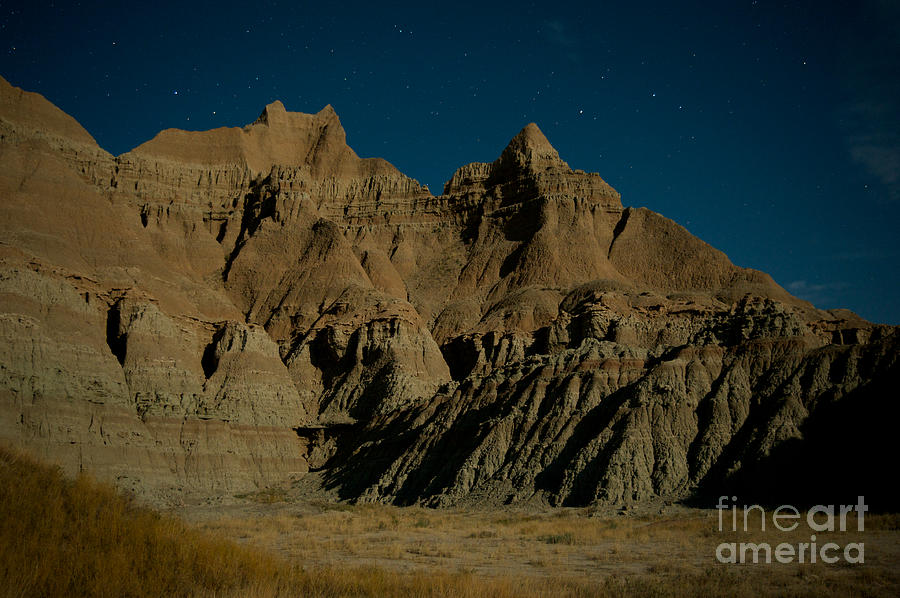 Badlands Moonlight Photograph  - Badlands Moonlight Fine Art Print