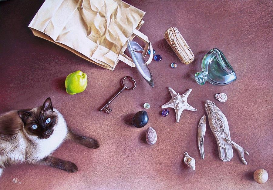 Bag Of Treasures Mixed Media