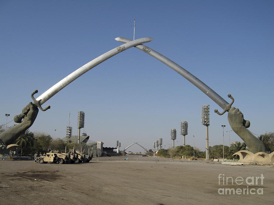 Baghdad, Iraq - Hands Of Victory Photograph  - Baghdad, Iraq - Hands Of Victory Fine Art Print