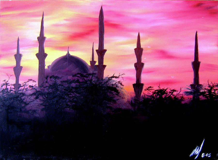 Baghdad Sunset Painting