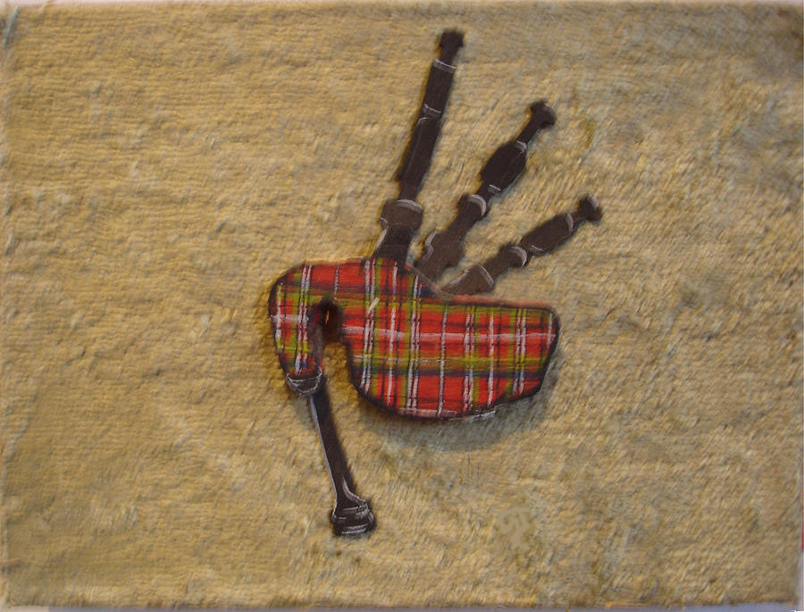 Bagpipes Balsa Painting