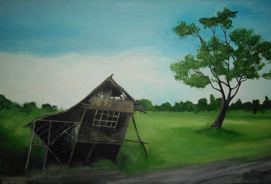 Bahay Kubo Painting
