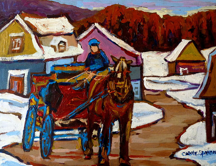 Baie Saint Paul Quebec Country Scene Painting