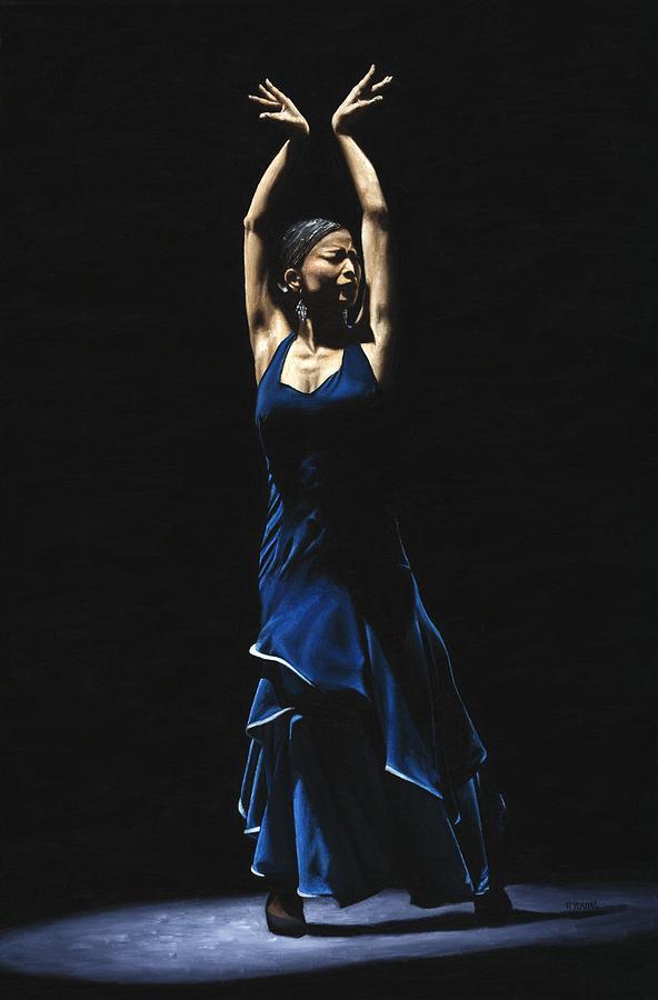Bailarina A Solas Del Flamenco Painting