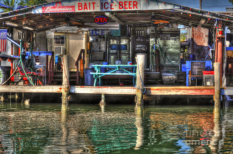 Bait Ice  Beer Shop On Bay Photograph