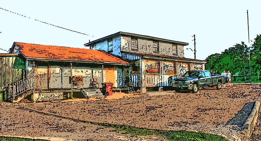 Bait Shop Digital Art  - Bait Shop Fine Art Print