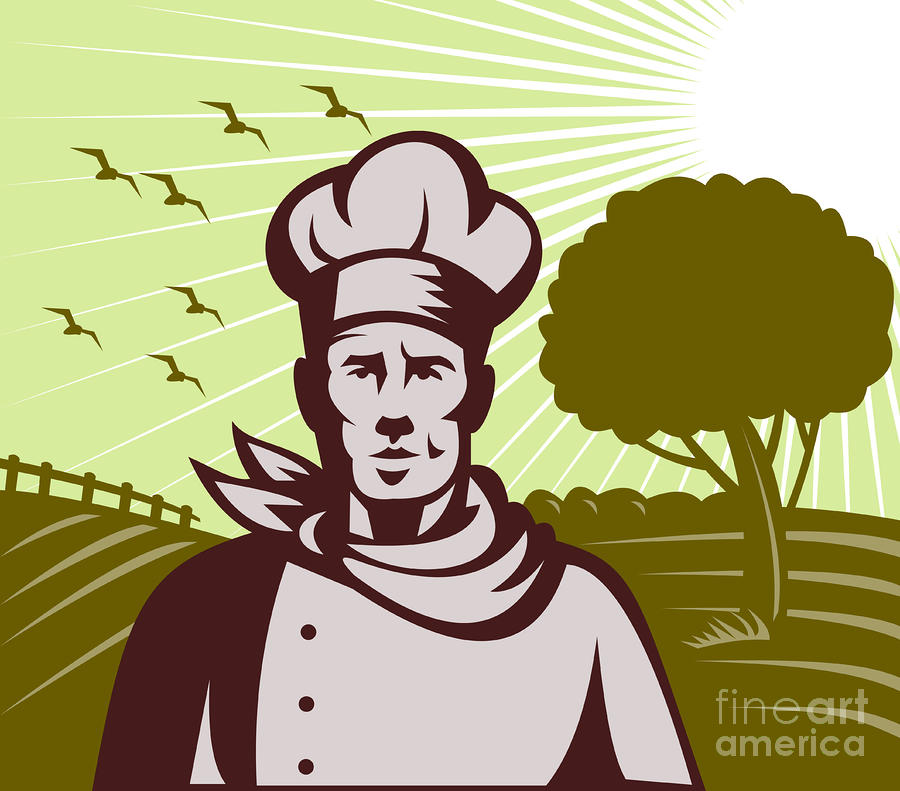 Baker Chef  Digital Art  - Baker Chef  Fine Art Print