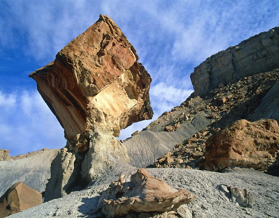 Balancing Rock Caused By Water Erosion Photograph
