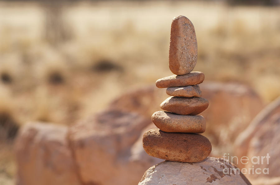 Arid Photograph - Balancing Rocks by Thom Gourley/Flatbread Images, LLC