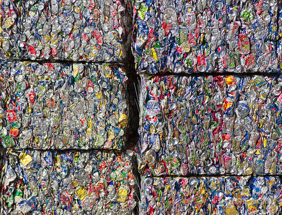 Bales Of Aluminum Cans Photograph