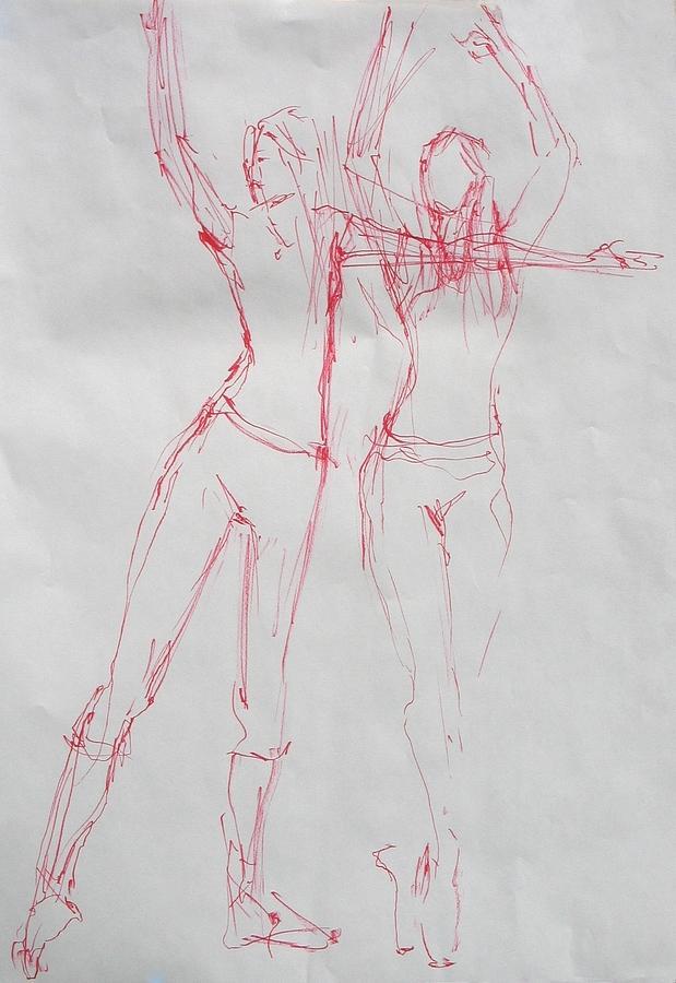 Nudes Painting - Ballerina 8040 by Elizabeth Parashis