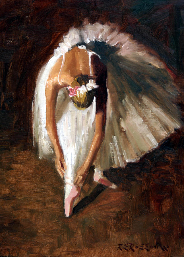 Ballerina With Pink Shoes Painting