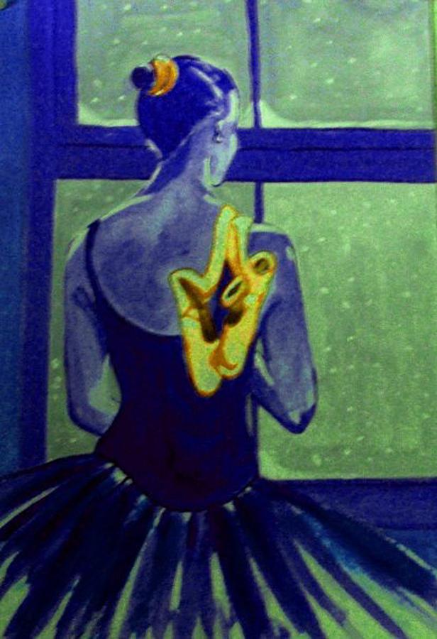 Ballerine En Hiver Painting