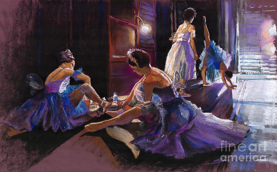Pastel Pastel - Ballet Behind The Scenes by Yuriy  Shevchuk