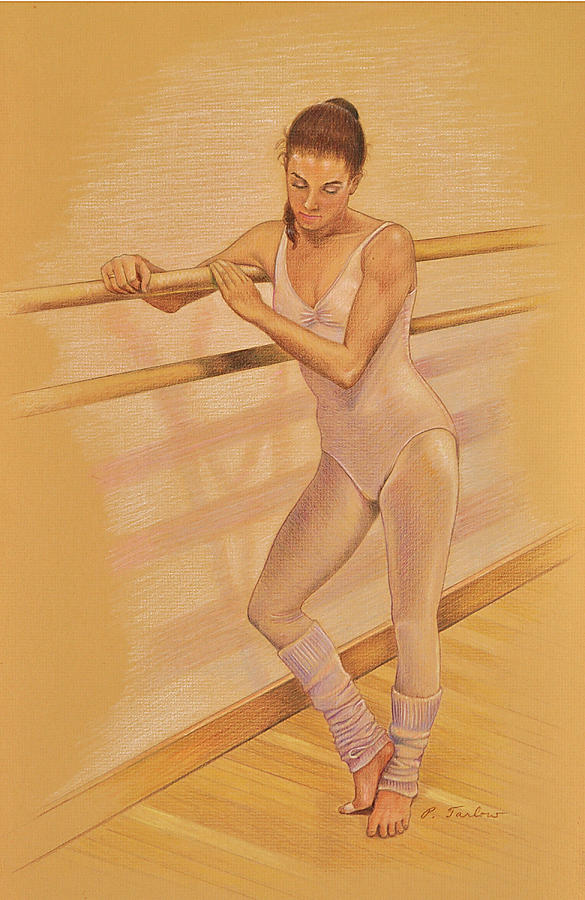 Ballet Dancer At The Barre Drawing