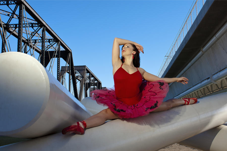 Ballerina Photograph - Ballet Splits by Michael Yeager
