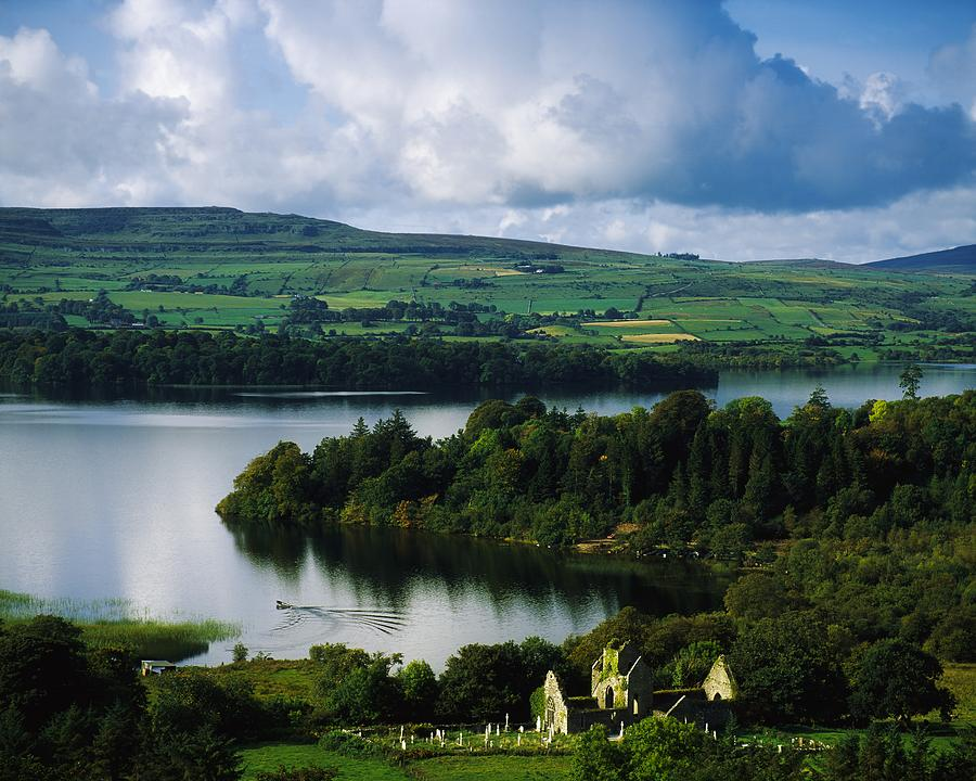 Ballindoon Abbey, Lough Arrow, Co Photograph
