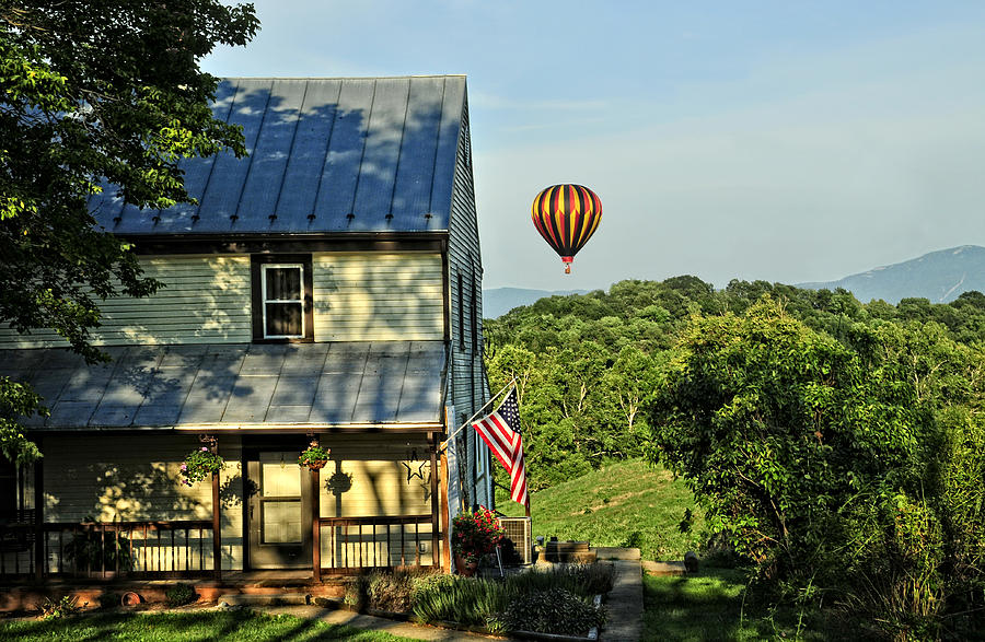 Hot Air Balloon Photograph - Balloon Country  by Lara Ellis