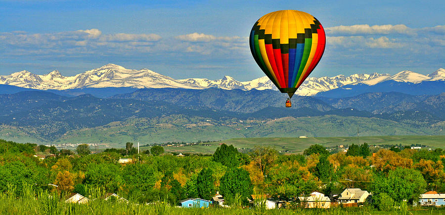 Ballooning Over The Rockies Photograph  - Ballooning Over The Rockies Fine Art Print