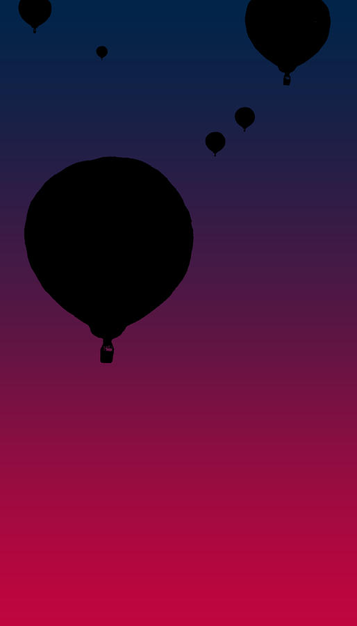 Balloons At Dusk Digital Art  - Balloons At Dusk Fine Art Print