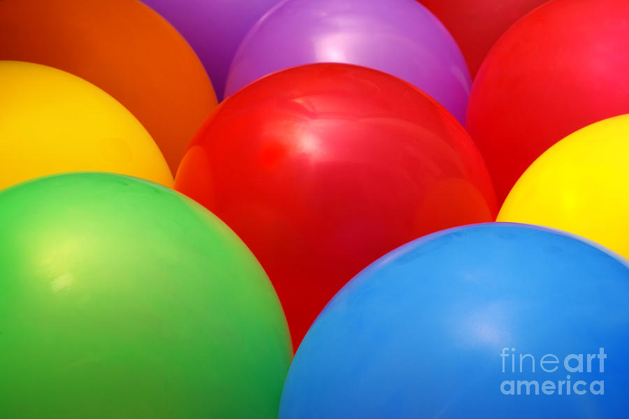 Balloons Background Photograph